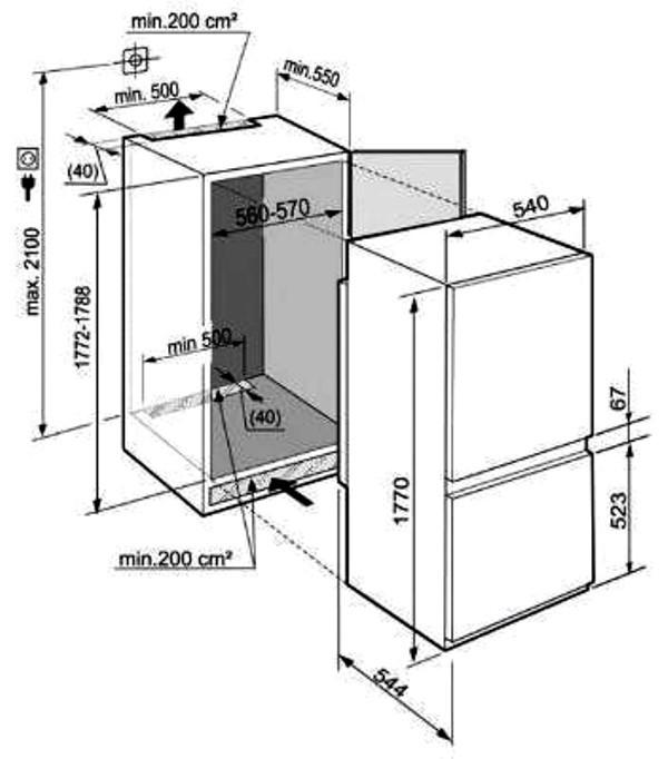 купить Встраиваемый двухкамерный холодильник Liebherr ICUS 3214 Украина фото 3