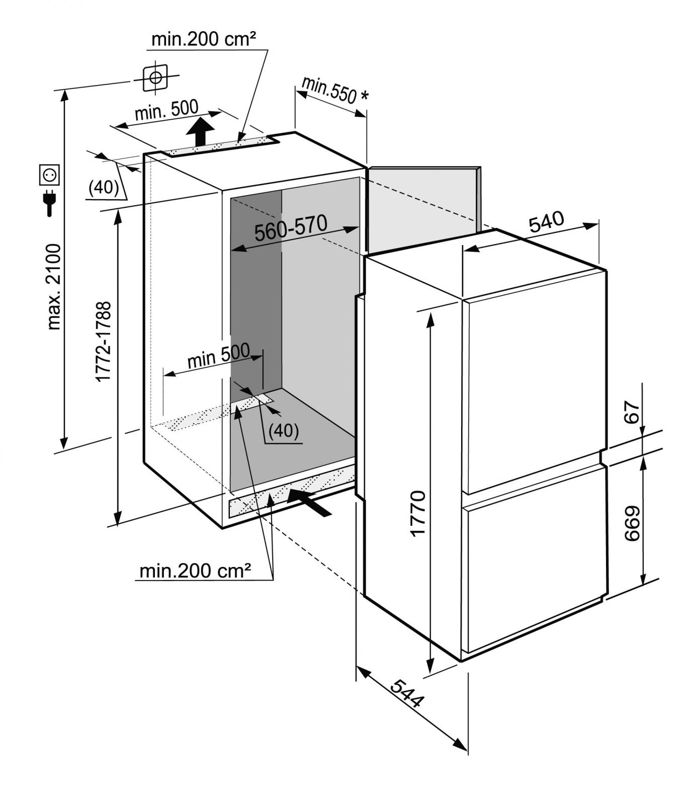 купить Встраиваемый двухкамерный холодильник Liebherr ICUS 3324 Украина фото 4