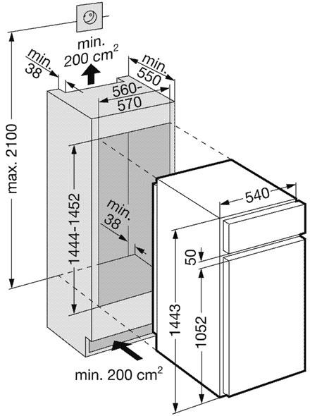 купить Встраиваемый двухкамерный холодильник Liebherr KID 2542 Украина фото 1