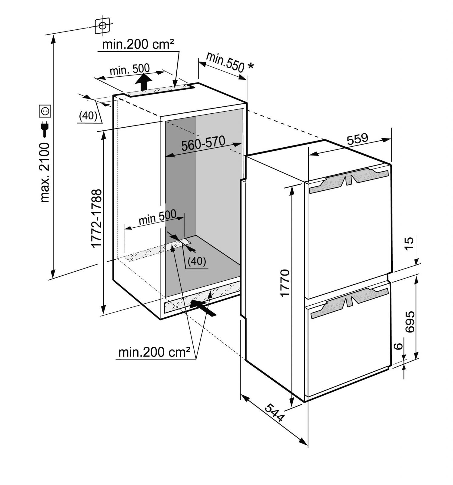 купить Встраиваемый двухкамерный холодильник Liebherr SICN 3386 Украина фото 4