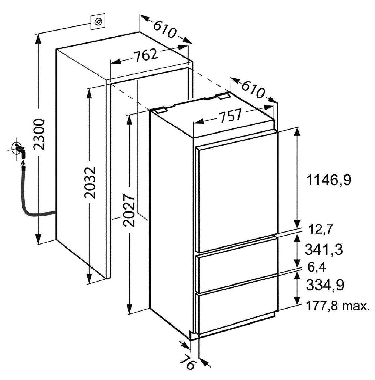 купить Встраиваемый двухкамерный холодильник Liebherr ECBN 5066 Украина фото 13