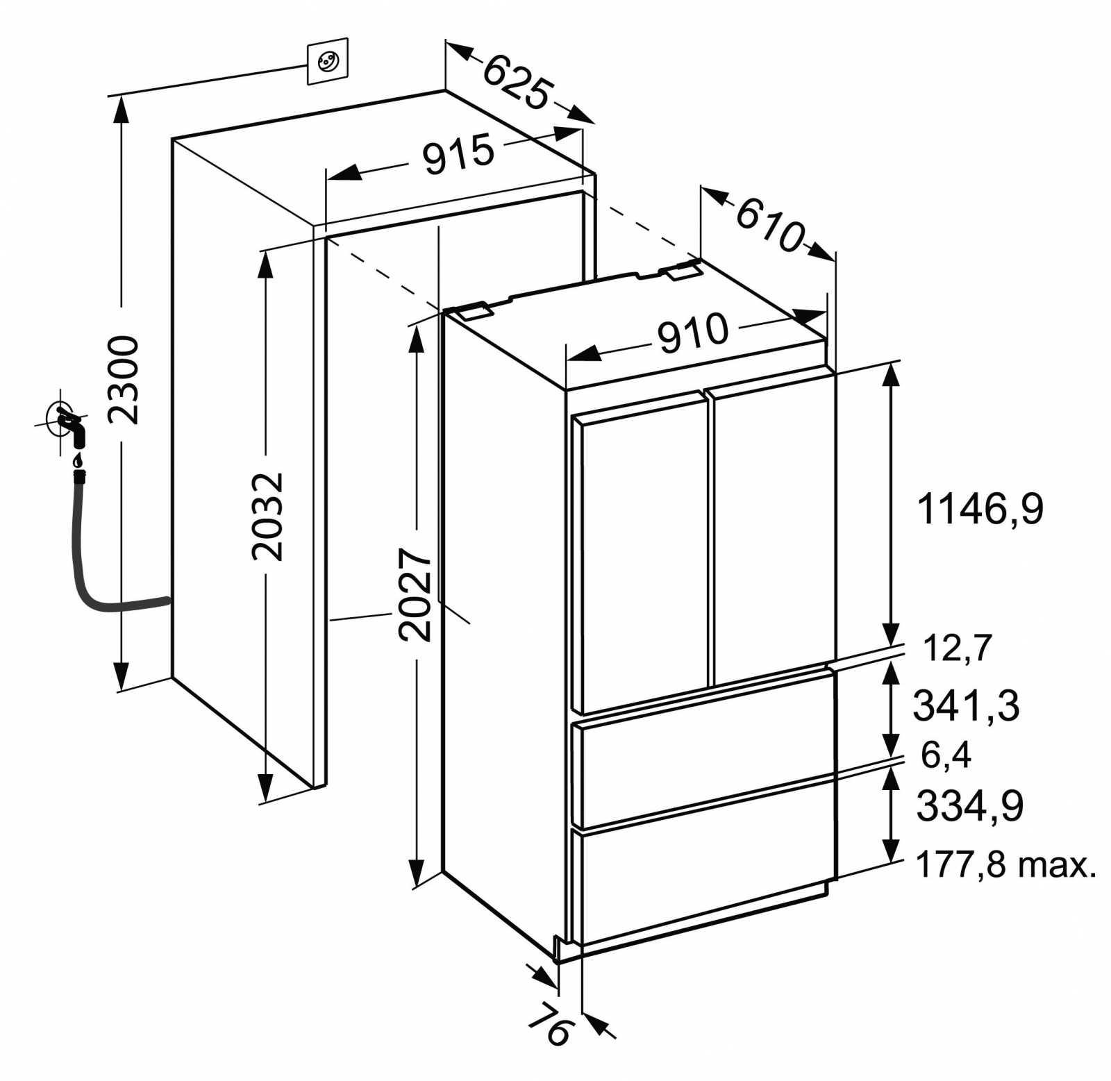 купить Встраиваемый двухкамерный холодильник Liebherr ECBN 6256 Украина фото 17
