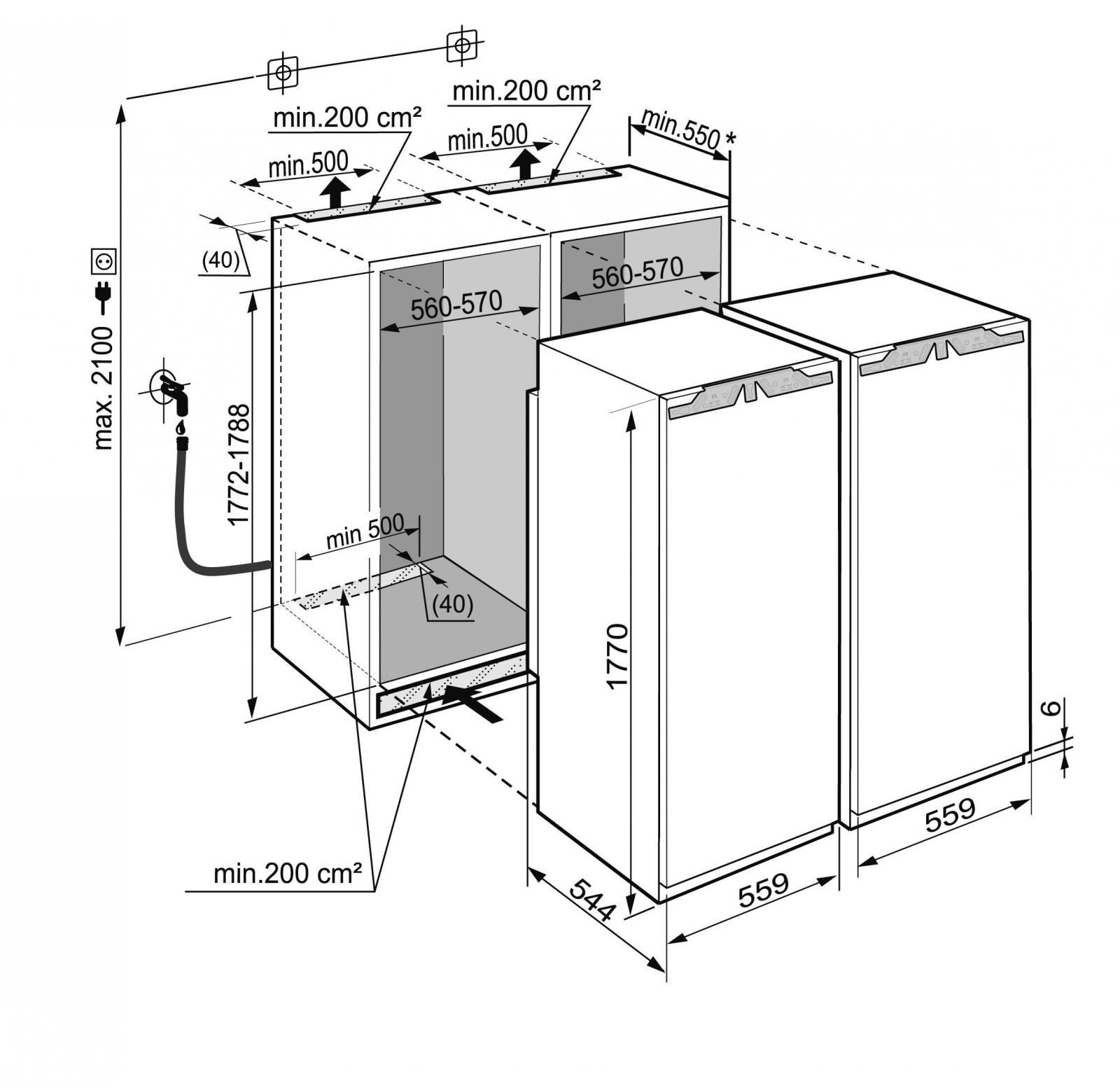 купить Встраиваемый холодильник Side-by-Side Liebherr SBS 70I4 22 003 Украина фото 10