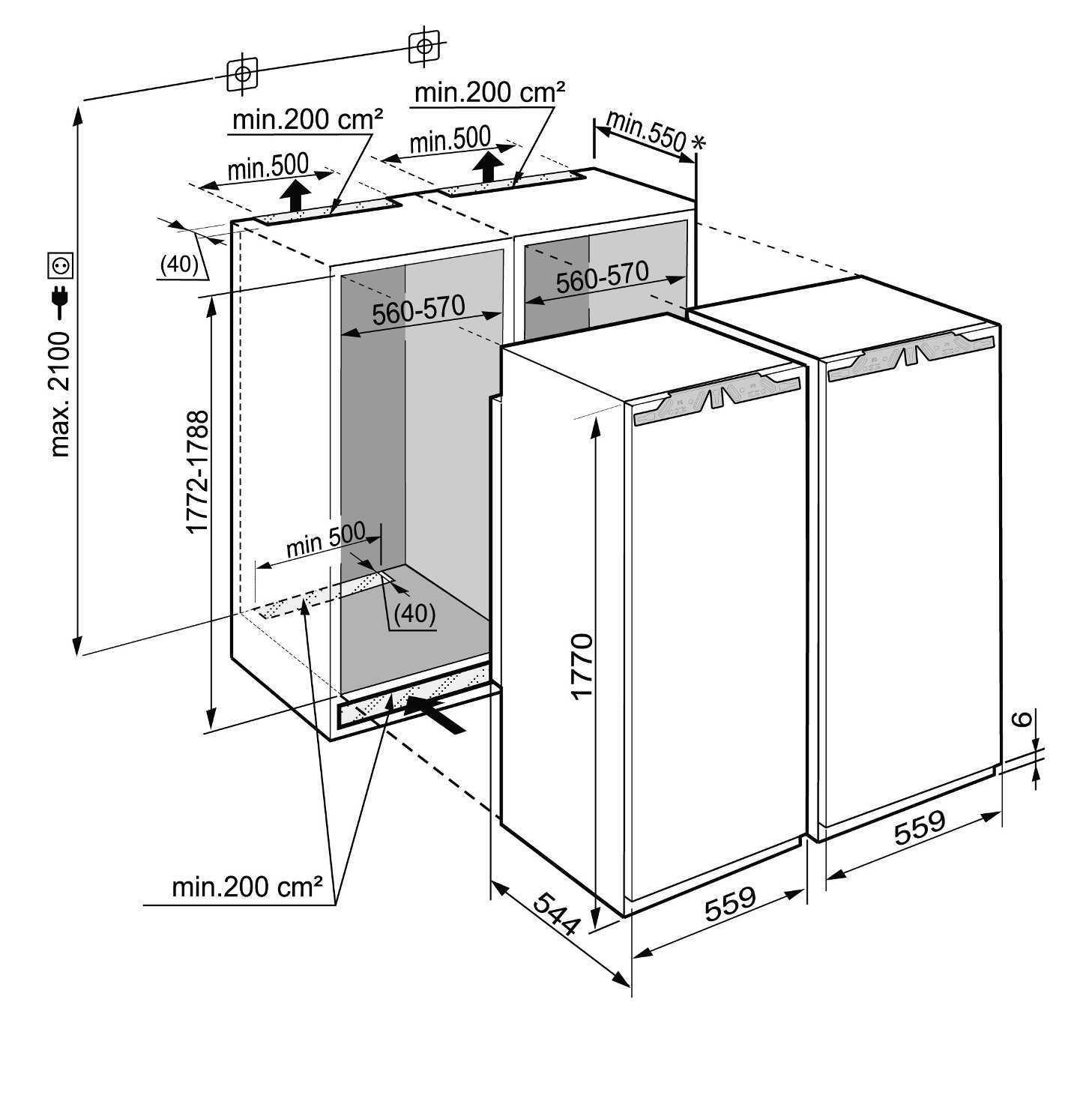 купить Встраиваемый холодильник  Side-by-side Liebherr SBS 70I2 Украина фото 8