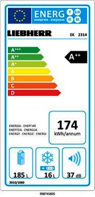 купить Встраиваемый однокамерный холодильник Liebherr EK 2314 Украина фото 2