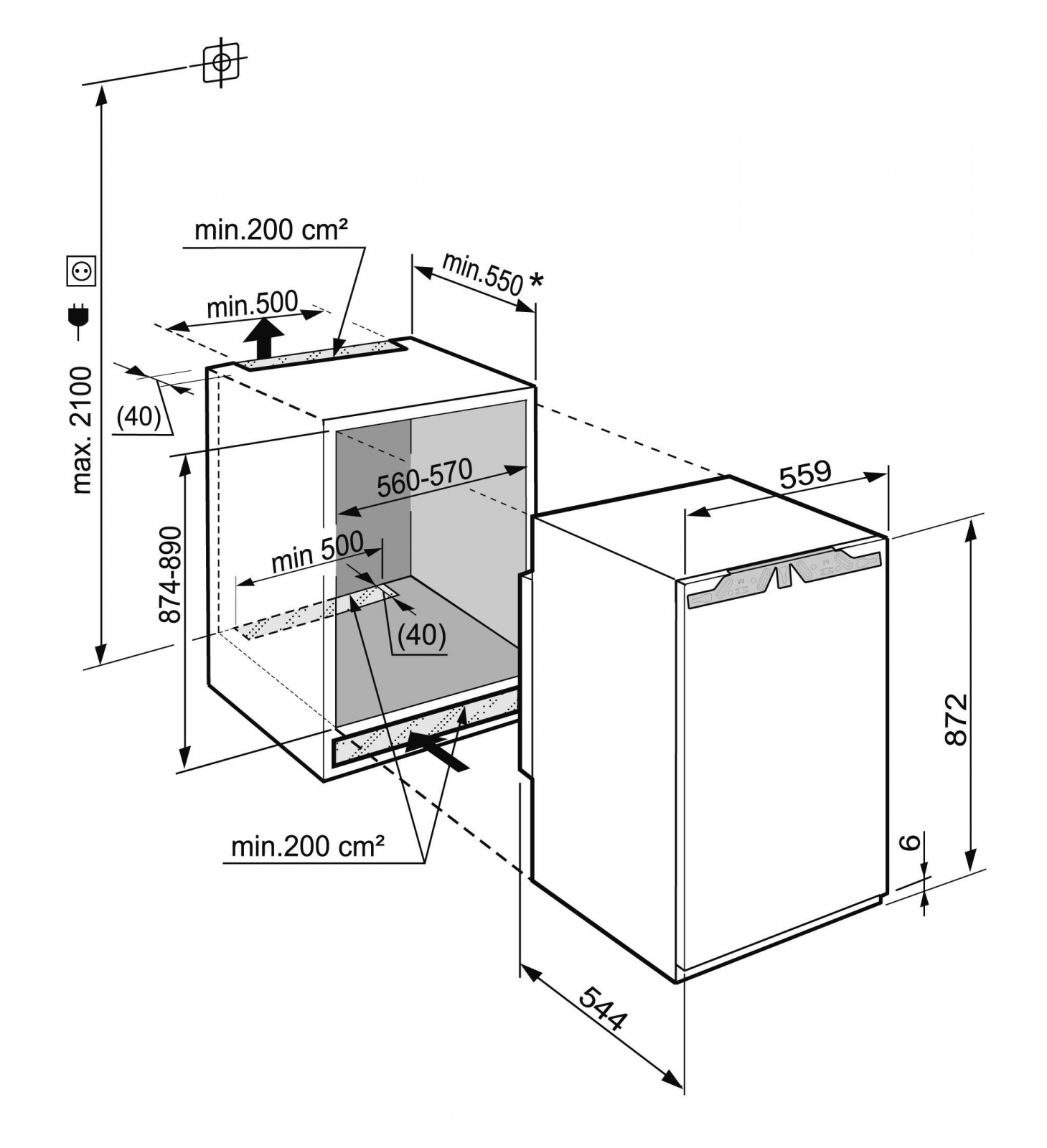 купить Встраиваемый однокамерный холодильник Liebherr IK 1624 Украина фото 4