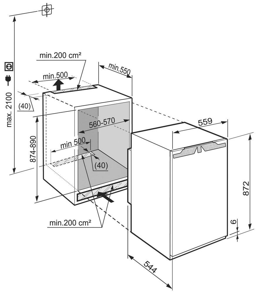 купить Встраиваемый однокамерный холодильник Liebherr IK 1654 Украина фото 1