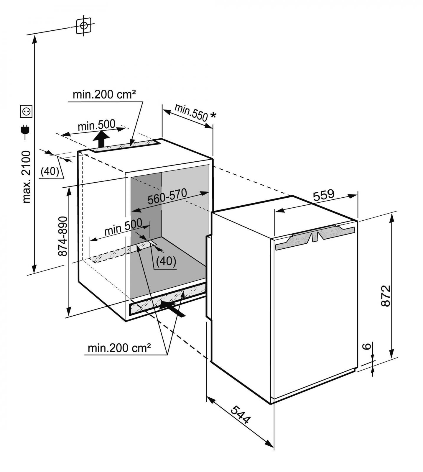 купить Встраиваемый однокамерный холодильник Liebherr IK 1660 Украина фото 3