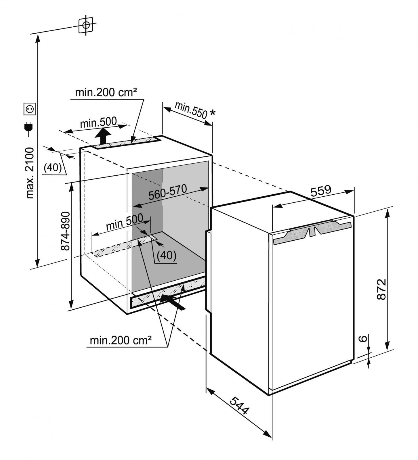 купить Встраиваемый однокамерный холодильник Liebherr IK 1664 Украина фото 3