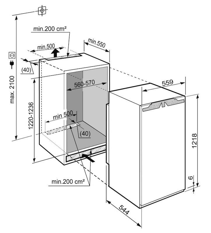 купить Встраиваемый однокамерный холодильник Liebherr IK 2354 Украина фото 1