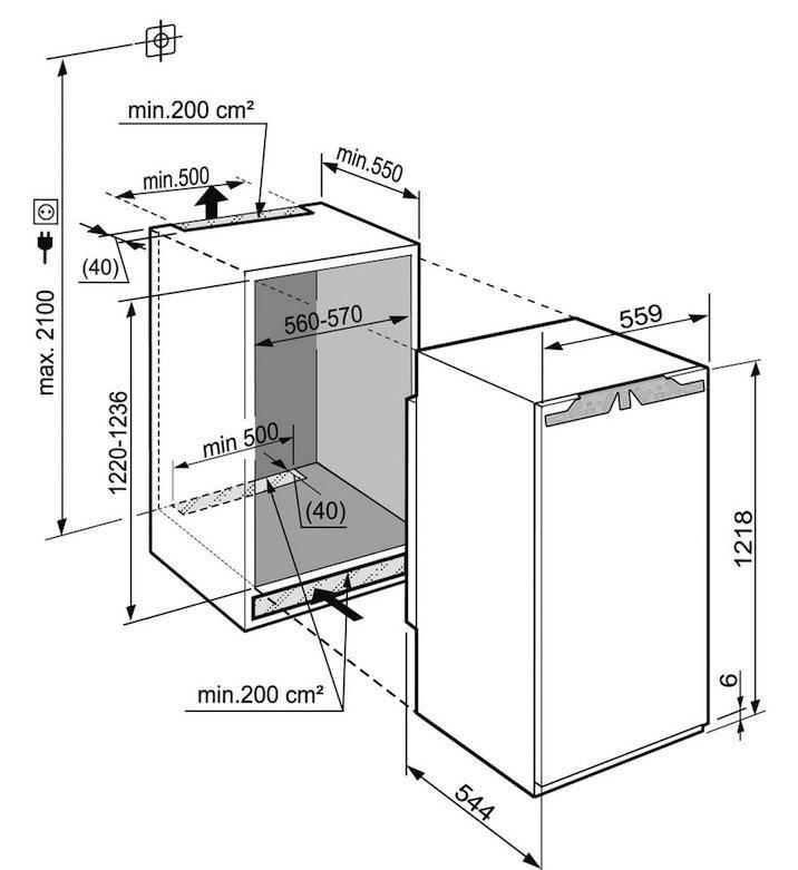 купить Встраиваемый однокамерный холодильник Liebherr IK 2364 Украина фото 2
