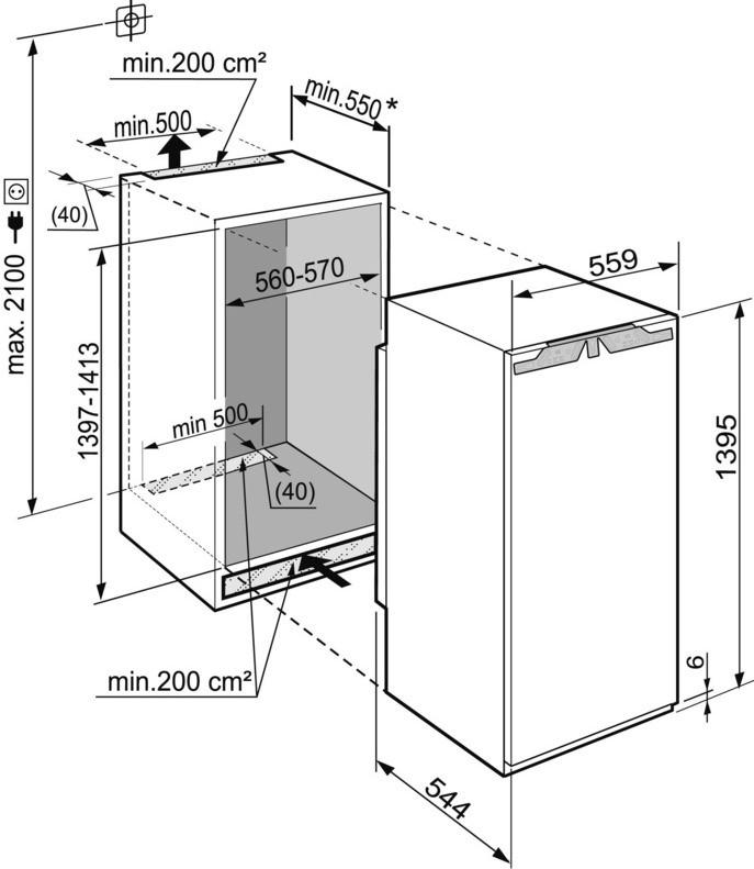 купить Встраиваемый однокамерный холодильник Liebherr IK 2710 Украина фото 2