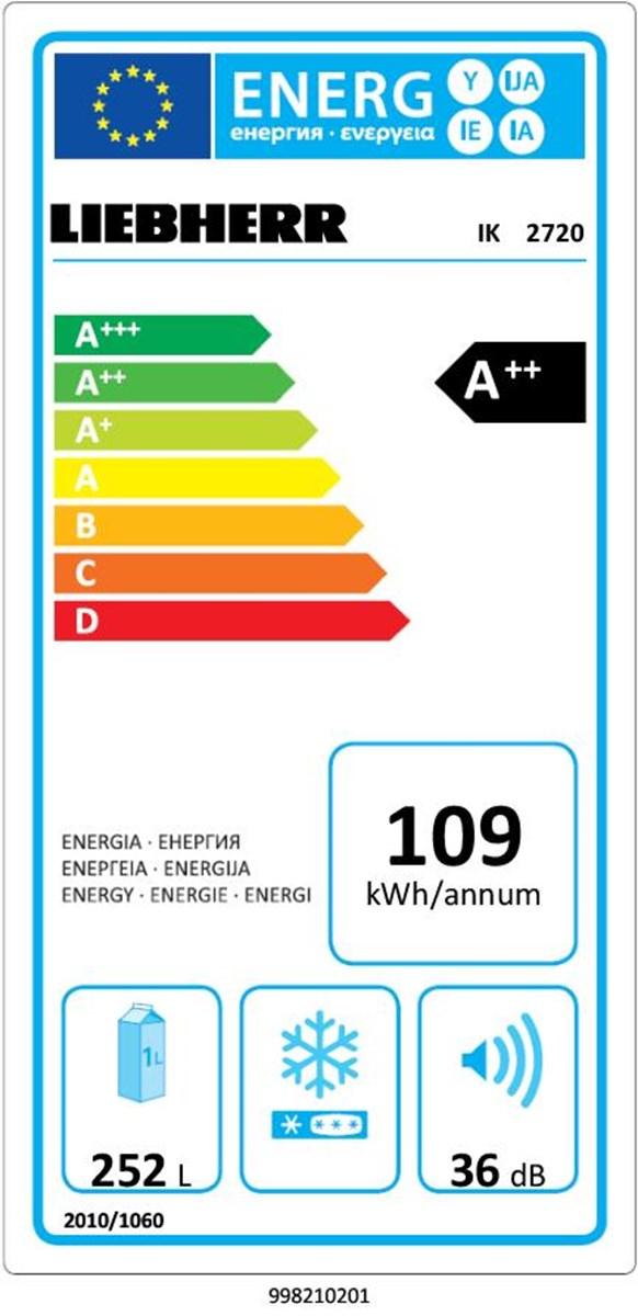 купить Встраиваемый однокамерный холодильник Liebherr IK 2720 Украина фото 2
