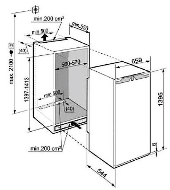 купить Встраиваемый однокамерный холодильник Liebherr IK 2754 Украина фото 1