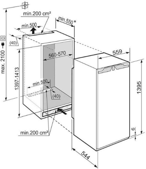 купить Встраиваемый однокамерный холодильник Liebherr IK 2760 Украина фото 4