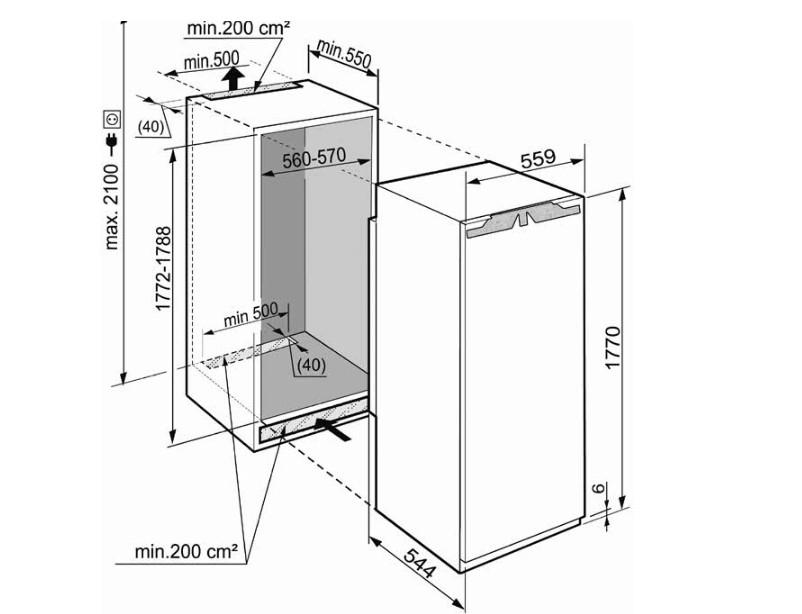 купить Встраиваемый однокамерный холодильник Liebherr IK 3514 Украина фото 1