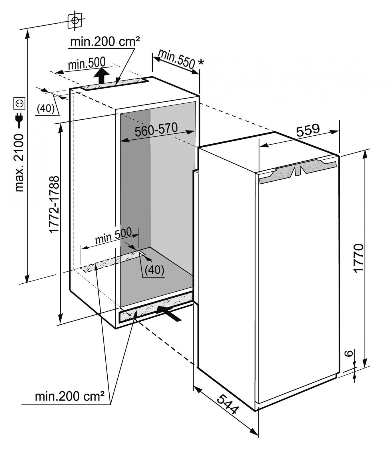 купить Встраиваемый однокамерный холодильник Liebherr IK 3520 Украина фото 4
