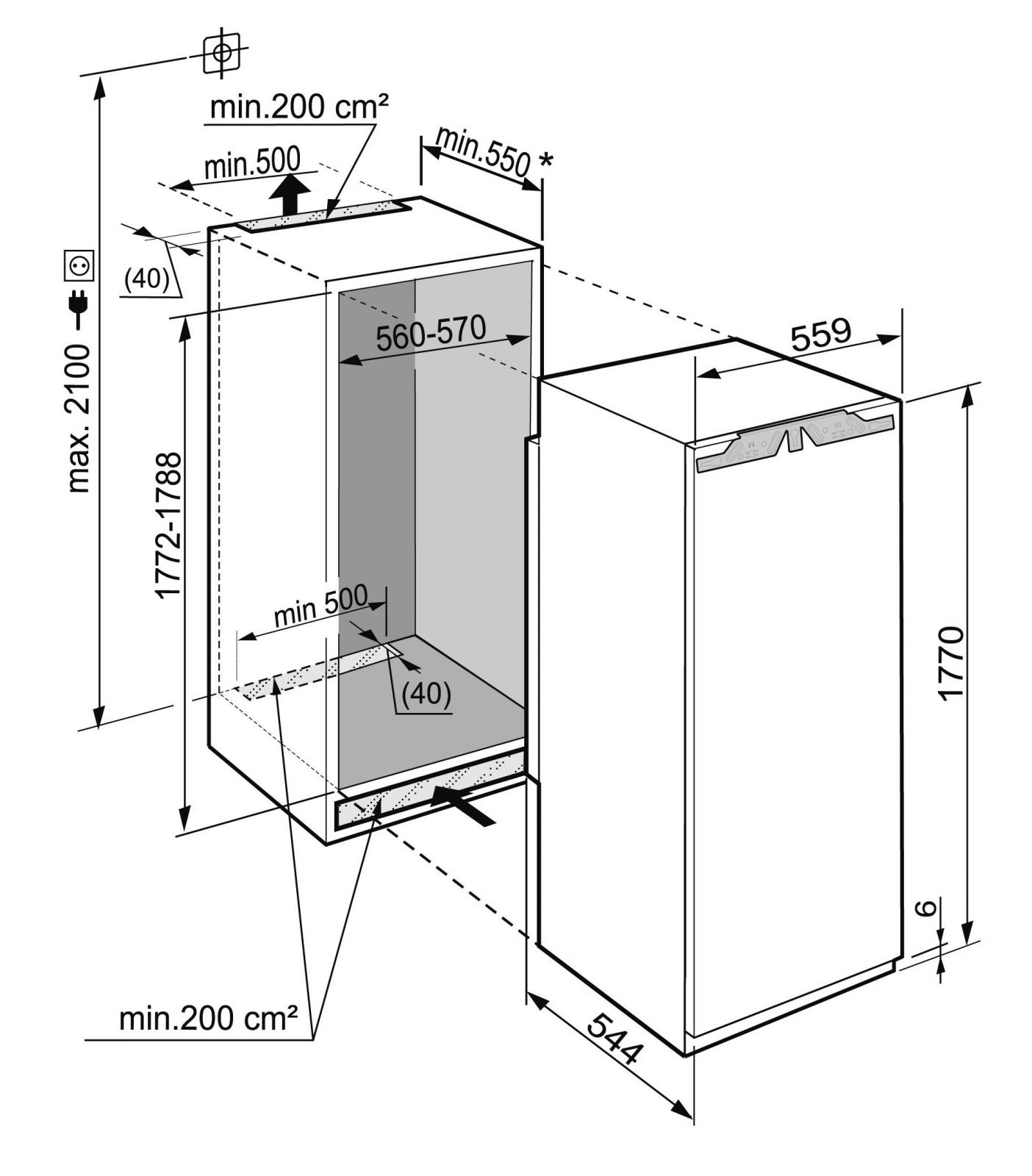 купить Встраиваемый однокамерный холодильник Liebherr IK 3524 Украина фото 4