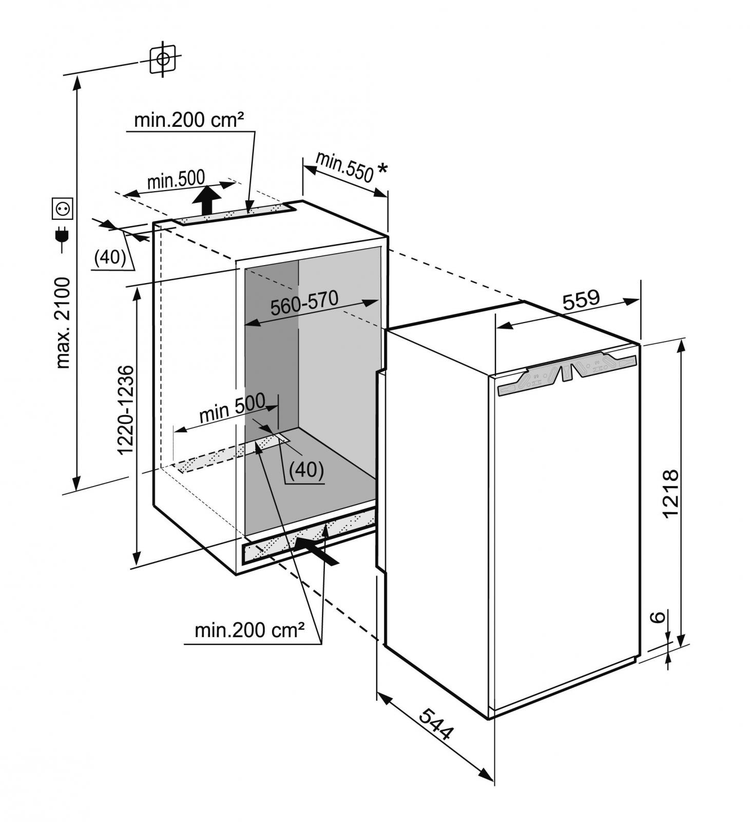 купить Встраиваемый однокамерный холодильник Liebherr IKB 2360 Украина фото 5