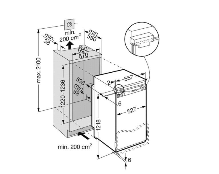 купить Встраиваемый однокамерный холодильник Liebherr IKB 2410 Украина фото 1