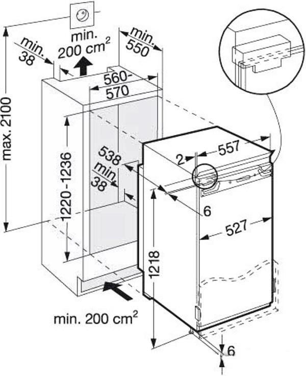 купить Встраиваемый однокамерный холодильник Liebherr IKB 2420 Украина фото 2