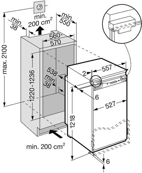 купить Встраиваемый однокамерный холодильник Liebherr IKB 2450 Украина фото 1