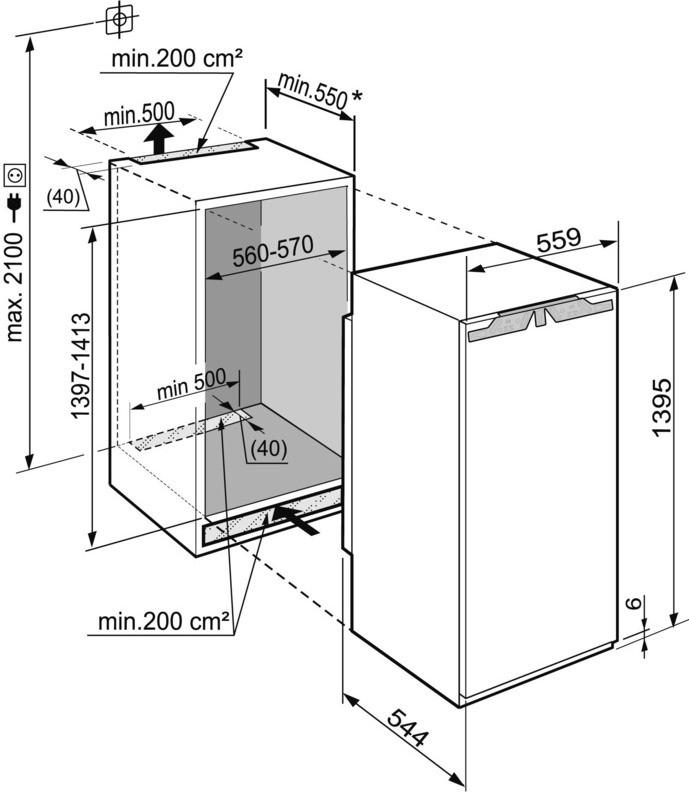 купить Встраиваемый однокамерный холодильник Liebherr IKB 2714 Украина фото 2