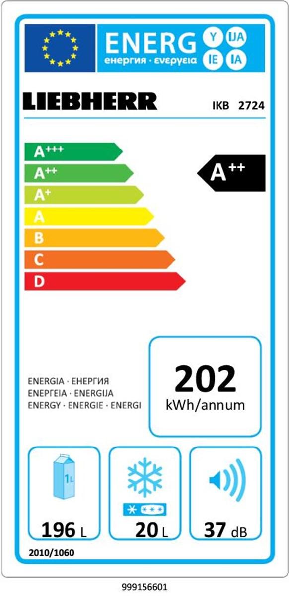 купить Встраиваемый однокамерный холодильник Liebherr IKB 2724 Украина фото 1