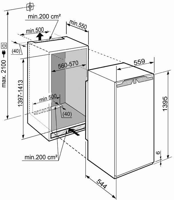 купить Встраиваемый однокамерный холодильник Liebherr IKB 2750 Украина фото 1