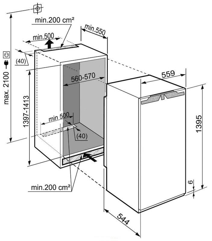 купить Встраиваемый однокамерный холодильник Liebherr IKB 2764 Украина фото 1