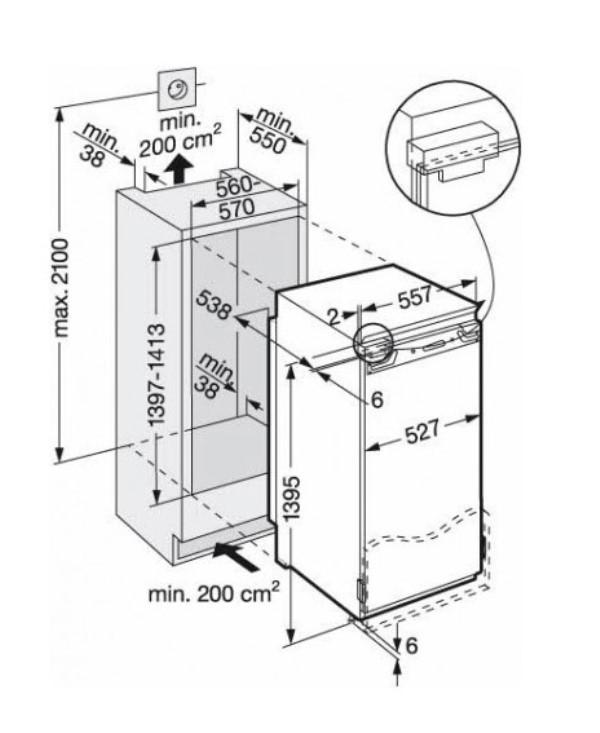 купить Встраиваемый однокамерный холодильник Liebherr IKB 2820 Украина фото 2