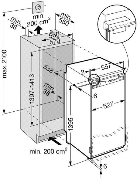купить Встраиваемый однокамерный холодильник Liebherr IKB 2850 Украина фото 1
