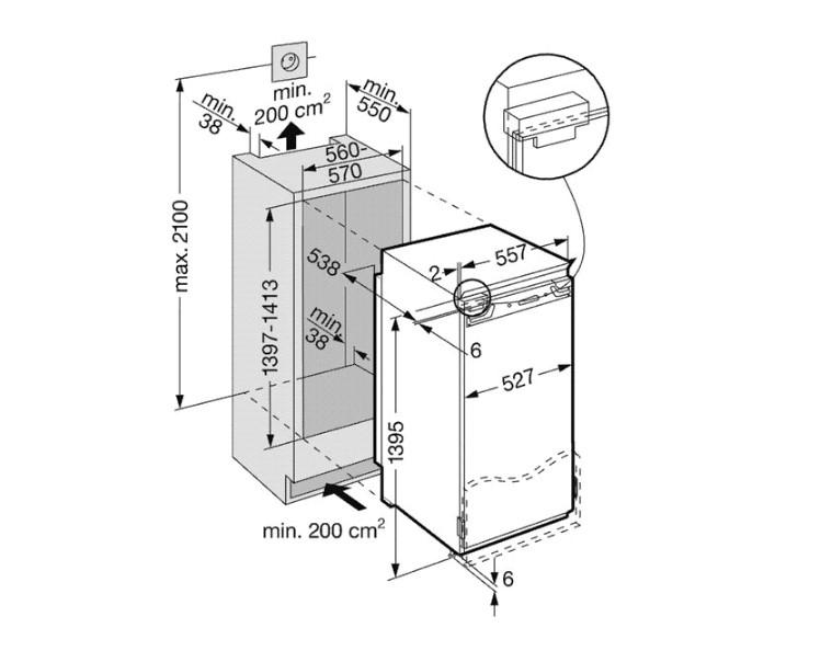 купить Встраиваемый однокамерный холодильник Liebherr IKB 2860 Украина фото 1