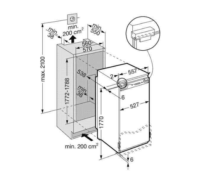 купить Встраиваемый однокамерный холодильник Liebherr IKB 3454 Украина фото 1