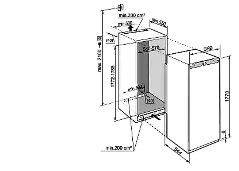 купить Встраиваемый однокамерный холодильник Liebherr IKB 3514 Украина фото 1