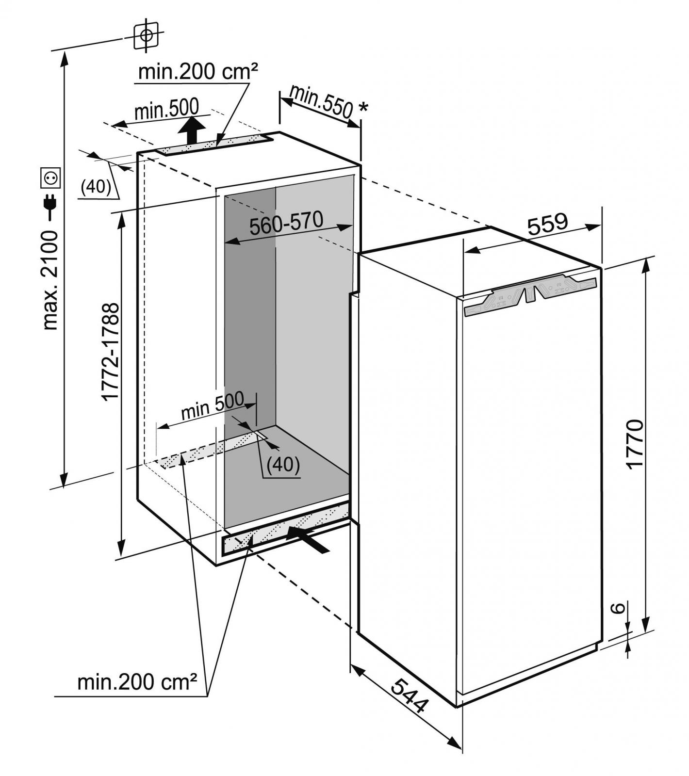 купить Встраиваемый однокамерный холодильник Liebherr IKB 3524 Украина фото 3