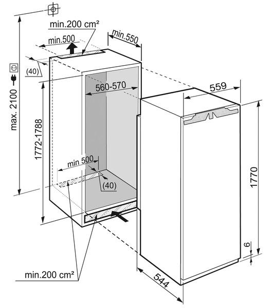 купить Встраиваемый однокамерный холодильник Liebherr IKB 3554 Украина фото 1