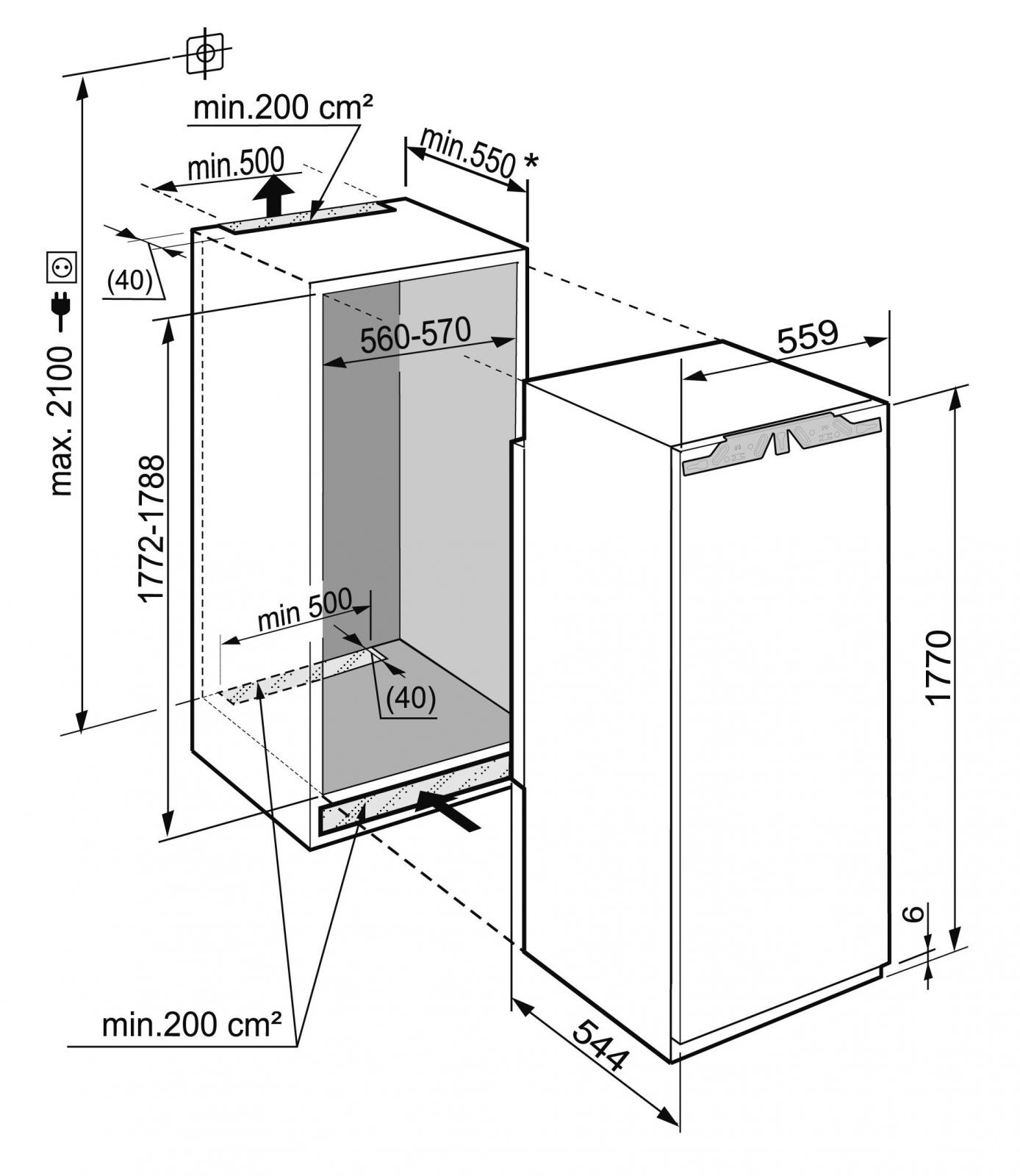купить Встраиваемый однокамерный холодильник Liebherr IKB 3560 Украина фото 9