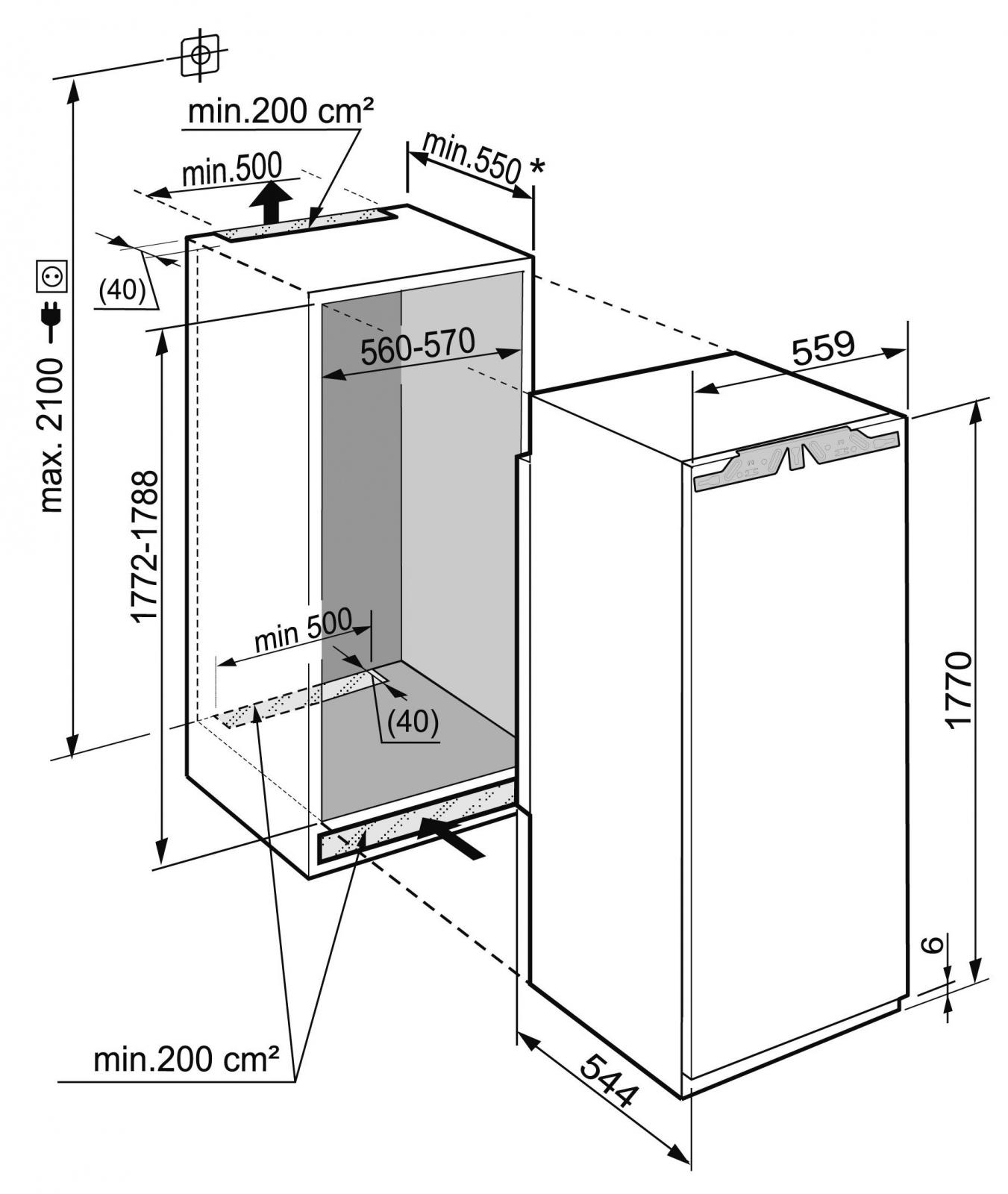 купить Встраиваемый однокамерный холодильник Liebherr IKB 3564 Украина фото 11