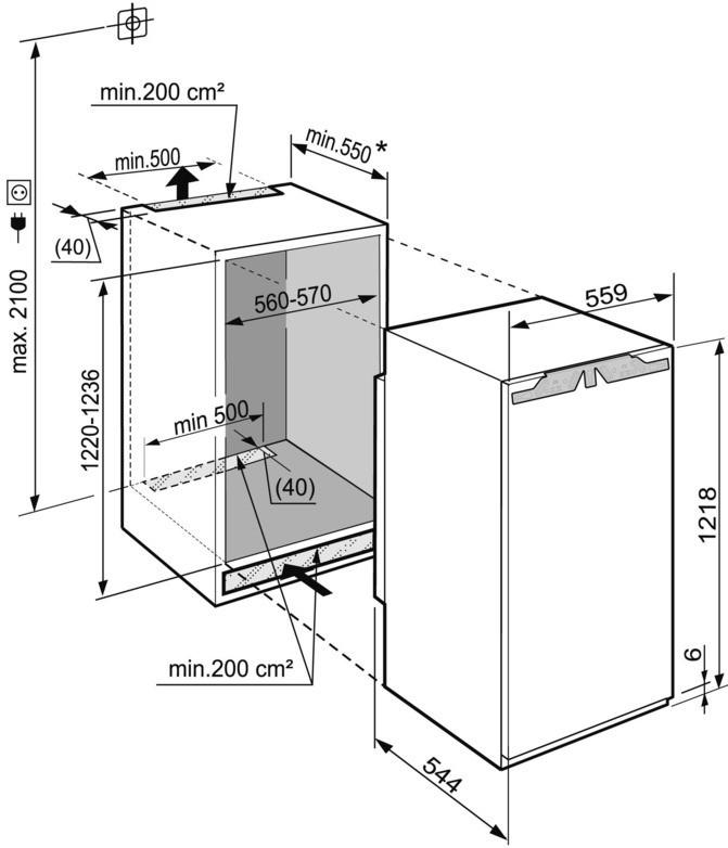 купить Встраиваемый однокамерный холодильник Liebherr IKBP 2350 Украина фото 2