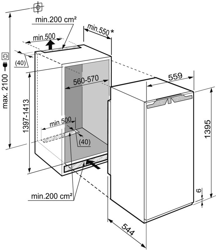 купить Встраиваемый однокамерный холодильник Liebherr IKBP 2750 Украина фото 2