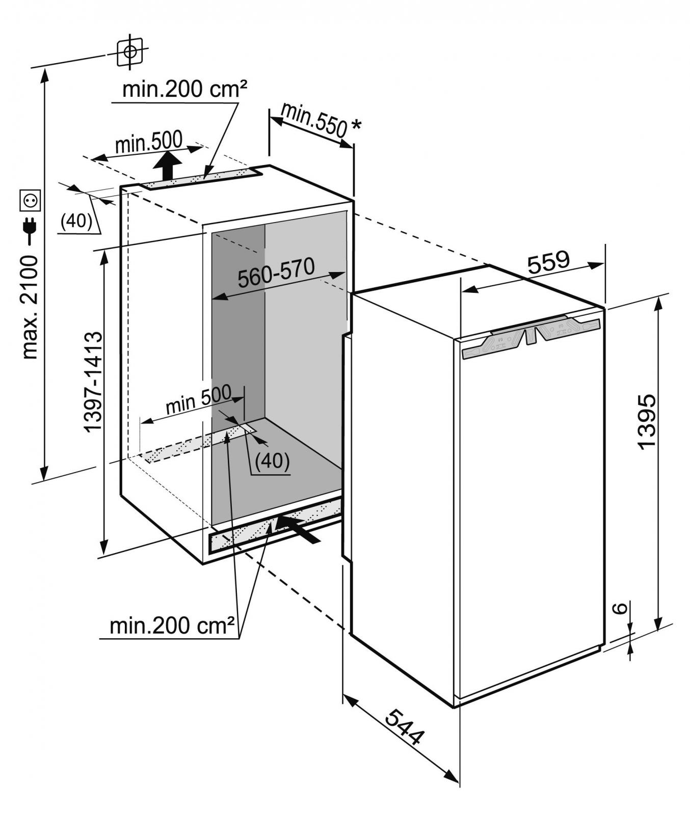 купить Встраиваемый однокамерный холодильник Liebherr IKBP 2760 Украина фото 6