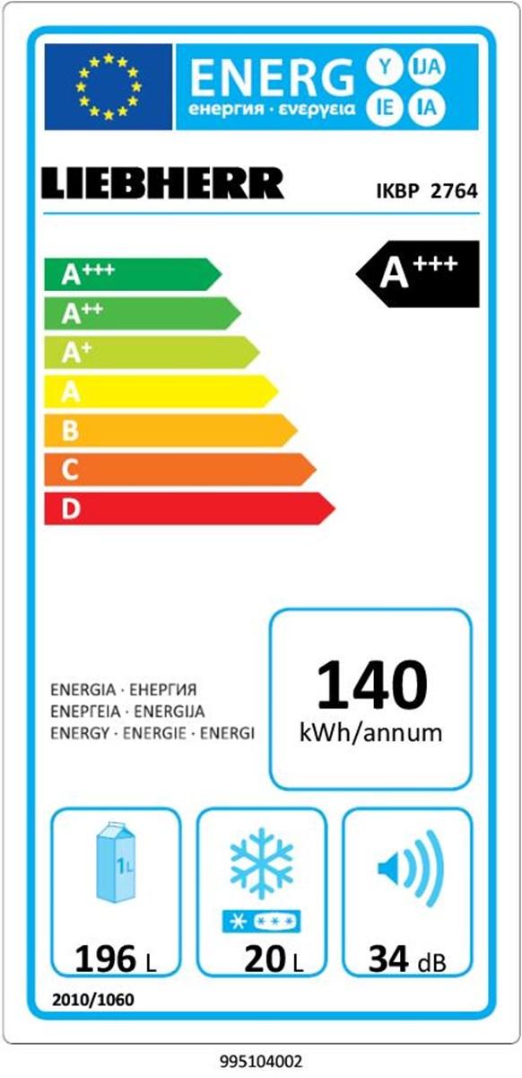 купить Встраиваемый однокамерный холодильник Liebherr IKBP 2764 Украина фото 3