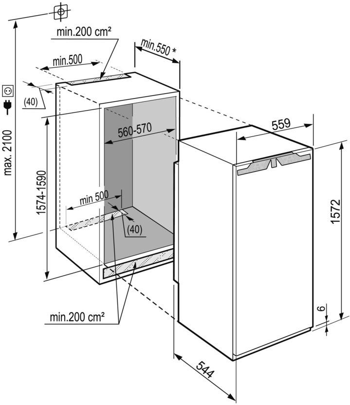 купить Встраиваемый однокамерный холодильник Liebherr IKBP 2954 Украина фото 2