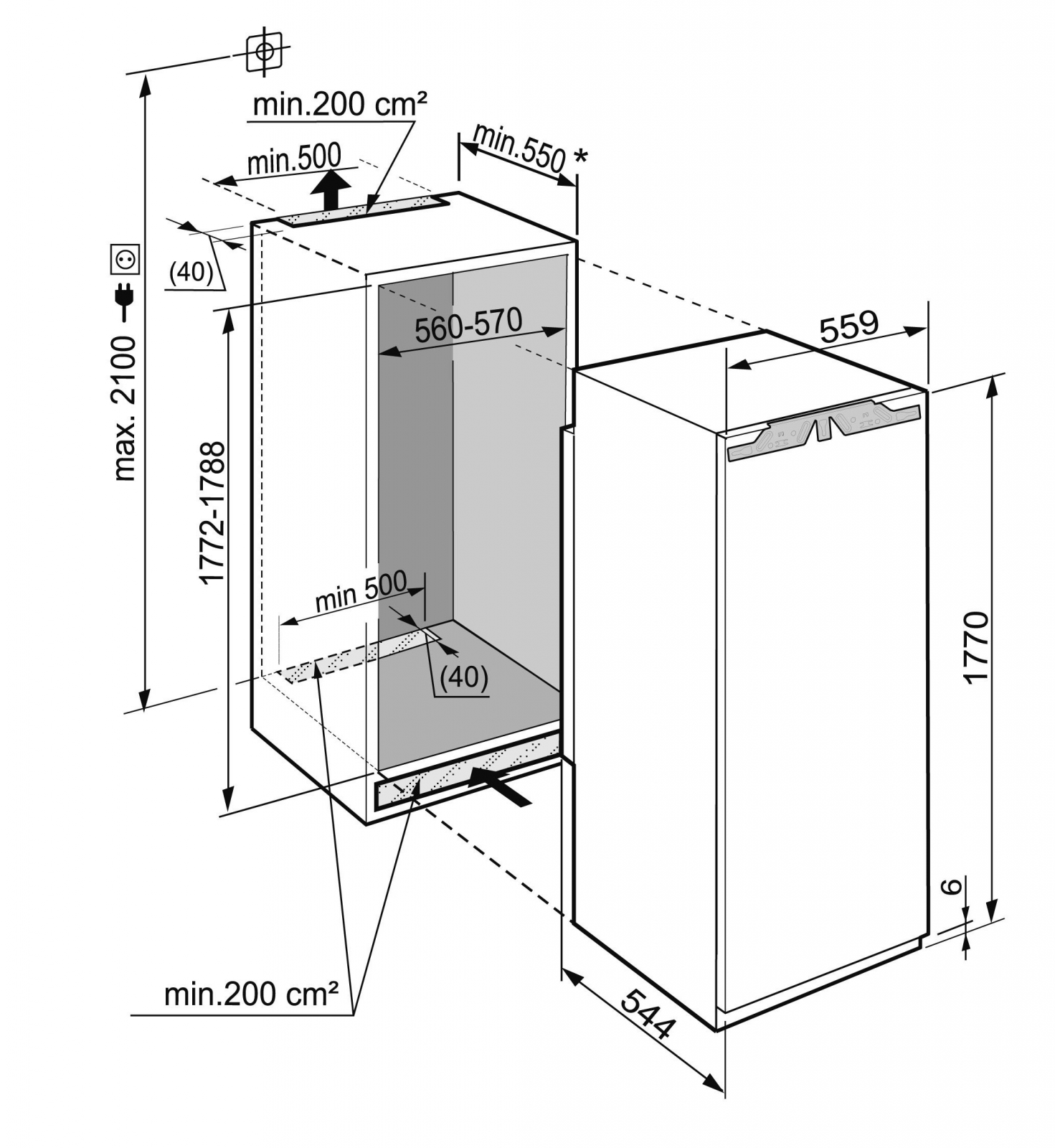 купить Встраиваемый однокамерный холодильник Liebherr IKBP 3524 Украина фото 1