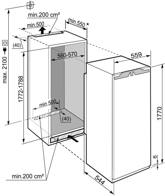 купить Встраиваемый однокамерный холодильник Liebherr IKBP 3554 Украина фото 2