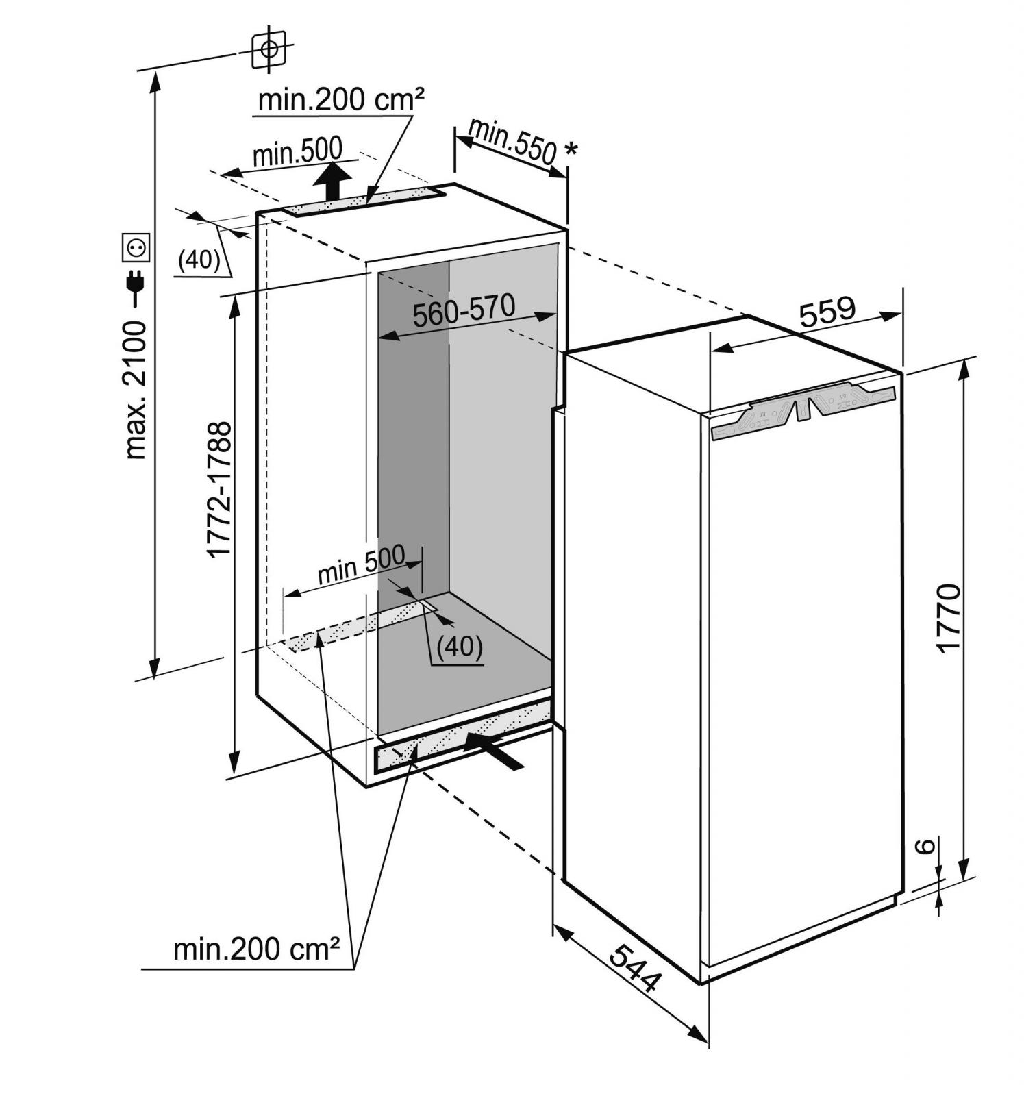 купить Встраиваемый однокамерный холодильник Liebherr IKBP 3560 Украина фото 4