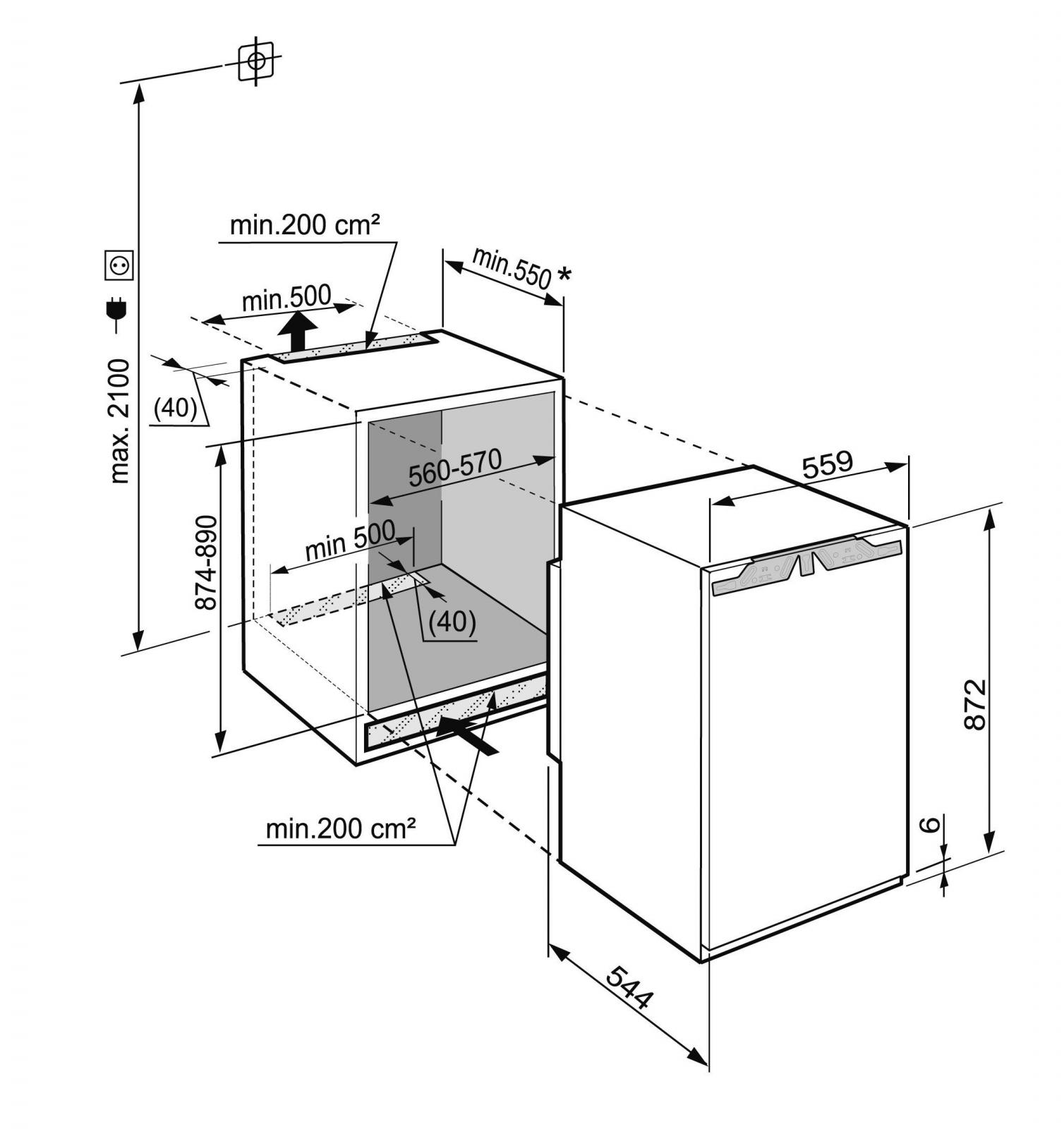 купить Встраиваемый однокамерный холодильник Liebherr IKP 1624 Украина фото 3