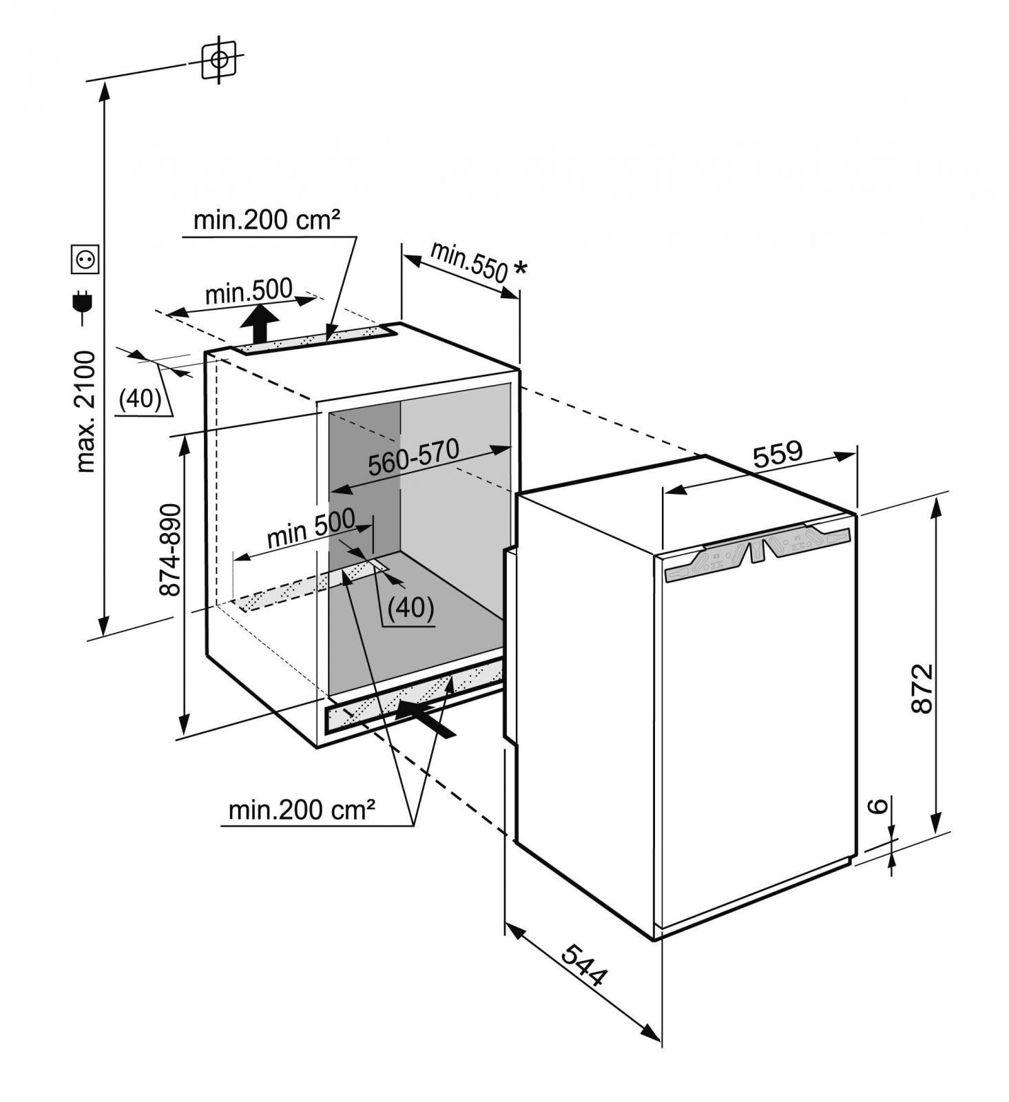 купить Встраиваемый однокамерный холодильник Liebherr IKP 1660 Украина фото 4