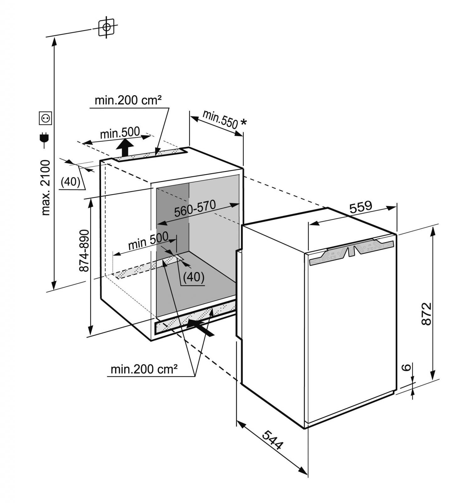 купить Встраиваемый однокамерный холодильник Liebherr IKP 1664 Украина фото 3